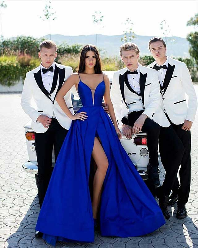How to make Wedding Gowns tailoring Blue prom dresses