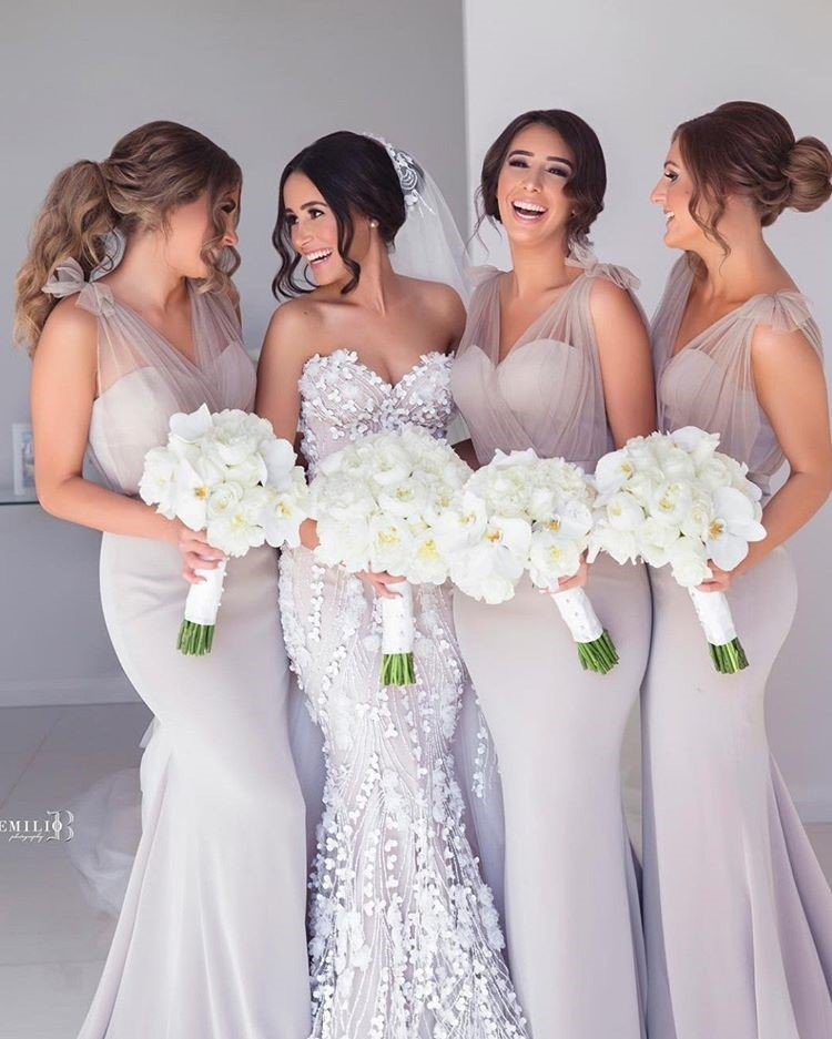 Off White bridesmaids