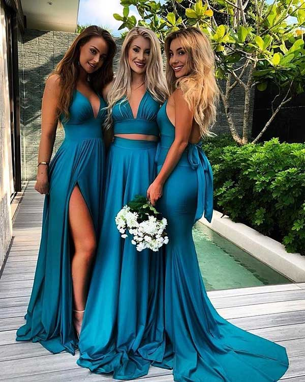 Girls With Green bridesmaids